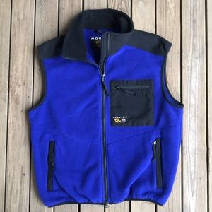 Vintage Mountain Hardwear fleece vest Large blue